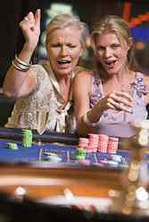 Gambling women.